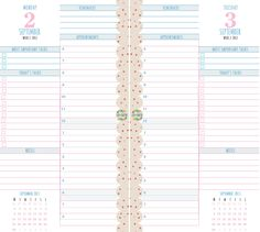 6 Month Planner - Day Per Page - Dotty - Personal - Jan-Jun 2014 - Printed - Life Is Crafted