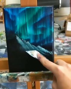 I inspired from this acrylic painting idea. Easy for acrylic painting beginners! Small Canvas Art, Diy Canvas Art, Acrylic Painting Canvas, Acrylic Art, Black Canvas Art, Black Canvas Paintings, Abstract Canvas Art, Painting Abstract, Art Painting Gallery