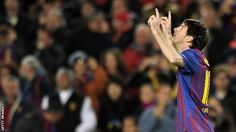 """""""His class is just extraordinary, there's no discussion. Without Messi, Barca are the best team and with him, they are in another galaxy""""    Bayer Leverkusen boss Robin Dutt"""