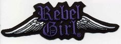 Womens Rebel Girl Wings Logo patches #custompatches #embroideredpatches
