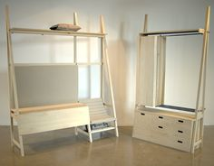 Joey Dogge, jeune designer hollandais formé à la Design Academy Eindhoven nous présente le projet Yatno, mobilier modulables pour vie dans un espace plus que réduit !