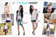 Cardigan + Shorts