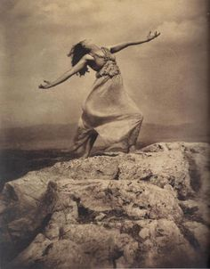 Edward Steichen - Therese Duncan on the Acropolis, Athens, 1921.  … from Edward Steichen: Lives in Photography, by Todd Barrow and William A. Ewing, Foundation for the Exhibition of Photography, and the Musee de l'Elysee, Lausanne, 2007.