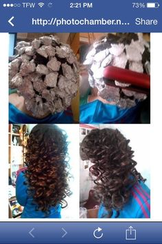Tin Foil Curls ❤️❤️