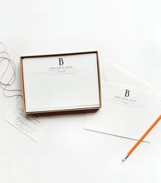 Loves me some customized stationery.  Or you know, ALL stationery.