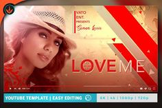 Love Me YouTube Video Artwork by SeraphimChris on @creativemarket