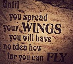 Spread your wings quote for toddler airplane room. For cj's room Words Of Wisdom Quotes, Some Quotes, Wise Words, Clever Quotes, Great Quotes, Inspirational Quotes, Say That Again, Your Turn, Wall Quotes