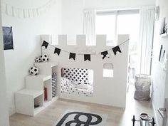 Bildergebnis für bunk beds with desk ikea hack Kura Bed Hack, Ikea Kura Hack, Ikea Hacks, Kids Castle, Castle Bed, Girl Room, Girls Bedroom, Master Bedroom, Ikea Bed