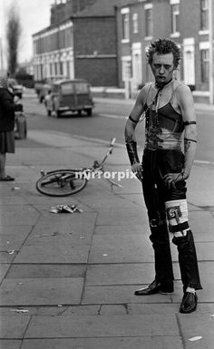 Punk Rockers at Woolwich.   Accountancy student Ian Hodge who gave up studying for the punk lifestyle.  12th June 1977