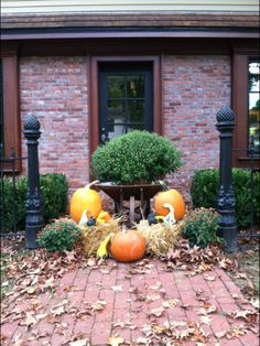 The entrance to our office last autumn.