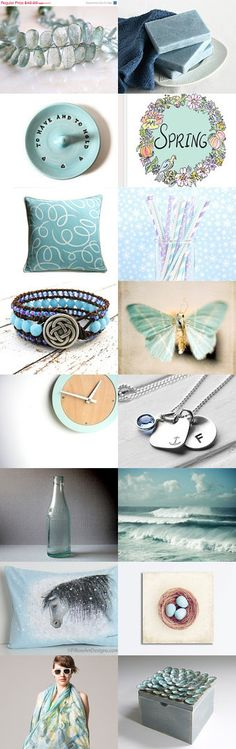 Aquamarine by Vitrine on Etsy - Beautiful treasury Candice!  Thanks so much for including my anchor necklace!