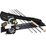 Goture Fly Fishing Rod Combo Bluewater Fly Rod, CNC-machined Aluminum Fly Reel Main/Backing Line Dry/Wet Flies Fly Fishing Kit, Portable Fishing Rod, Bear Fishing, Fishing Tackle Bags, Best Fishing Rods, Fishing Rods And Reels, Fly Reels, Rod And Reel, Fishing Stuff
