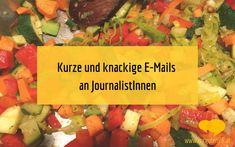 Kurze & knackige E-Mails an Journalisten und Journalistinnen Salsa, Ethnic Recipes, Food, Writing Styles, Not Interested, Essen, Salsa Music, Meals, Yemek