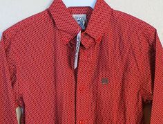 CINCH Jeans Toddler Boys Shirt L/S Western Rodeo Cowboy buttons RED print NWT 3T www.baharanchwesternwear.com baha ranch western wear ebay seller id soloedition