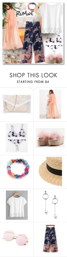 """www.romwe.com-XLVI-9"" by ane-twist ❤ liked on Polyvore featuring romwe, outfits and sumer"