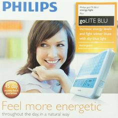Discover how light therapy can help with your depression or anxiety. Try our Philips goLITE BLU Light Therapy Device today. Led Light Therapy, Thing 1, How To Increase Energy, Innovation Design, Depression, Blues, Day, Mood, Technology