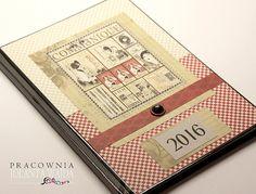 Kalendarz książkowy ręcznie ozdabiany na 2016 rok