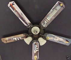"""New MUSTANG AIRPLANES WARBIRD Ceiling Fan 52"""""""