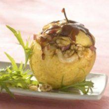 Pommes au four caramélisées au camembert Cœur de Lion