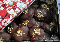 Μελομακάρονα με σοκολάτα (επικάλυψη)