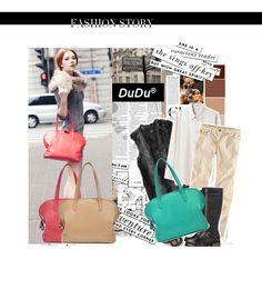 Borsa shopping DUDU in pelle con manici a spalla nuovo design - www.dudubags.net