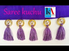 How to make saree kuchu beautiful design with silk thread step by step tutorial - YouTube