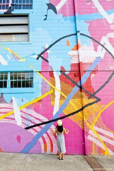 Hense Abstract Wall 760 10th Street NW (+ Best Instagram Spots in Atlanta) // localadventurer.com
