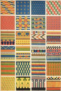 ArtbyJean - Vintage Clip Art: Digital Collage Sheet of Egyptian Patterns