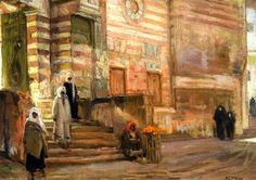 A Mosque in Cairo Henry Ossawa Tanner (1897) Private collection Painting - oil on canvas