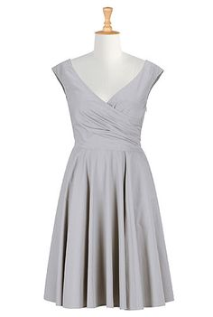 I actually really like this in pewter gray for a winter wedding. It would pair well with a cami, shawl, earrings, shoes, etc. in the main wedding color.