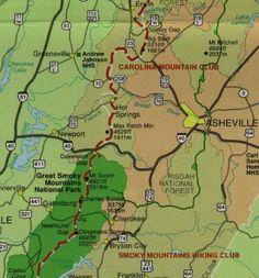 Appalachian Trail near Asheville North Carolina