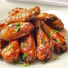 Dijon Brown Sugar Glazed Baked Chicken Wings - so easy! - Rock Recipes
