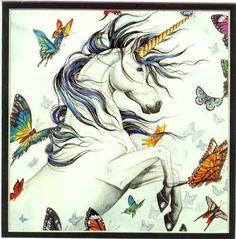 Faery Ring, Mini Litho Print #NeneThomas #unicorn #butterflies