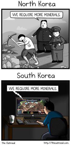 North vs. South Korea :P