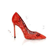 Blule+-+Red+-+Addicted Commissioned+work+for+Jimmy+Choo,+via+The+Illustration+Room.
