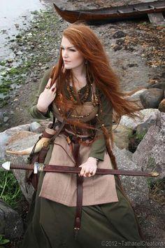 Viking cosplay. She's gorgeous!