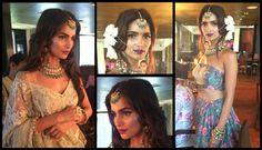 Vogue Bridal Look! See you at the show this Friday.  5th to 7th Aug at Taj Palace.  #vogueweddingshow #vogueweddingshow2016 #sunitashekhawatbride #bridallook #behindthescenes #padmapriya