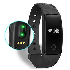 eMart Sports Bluetooth Smart Bracelet Watch Band Wristband Activities Heart Rate Sleep Monitor Heath Fitness Tracker for iPhone iOS  Android Phone Black ** Click image to review more details.