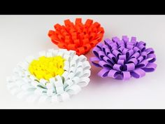 FLORES HECHAS  CON TIRAS DE FOAMY O GOMA EVA .- FOAM FLOWERS . - YouTube