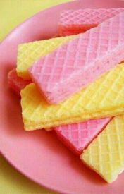 Pink and yellow wafer cookies - never liked the chocolate ! Mellow Yellow, Pink Yellow, Color Yellow, Pink Lemonade Party, Strawberry Lemonade, Pink Lemonade Baby Shower Ideas, Wafer Cookies, Cream Cookies, Pretty Pastel