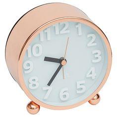 Lisa T Rose Gold Desk Clock
