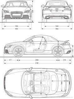 2010 Audi TT RS Roadster blueprint