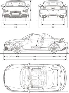 2010 Audi TT RS Roadster blueprint