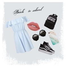 """""""Back to school 🌈"""" by nennepit on Polyvore featuring moda, Miss Selfridge, Vans, Gray Malin e Lime Crime"""