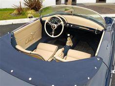 1957 Porsche 356 interior