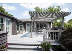 Beautiful deck with so much space for entertaining! 9618 Old Bonhomme Road, Saint Louis, MO.