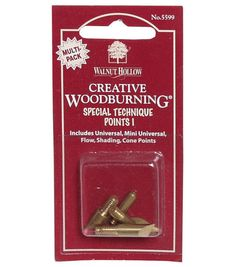 Walnut Hollow Creative Woodburning Special Technique Points-5PK