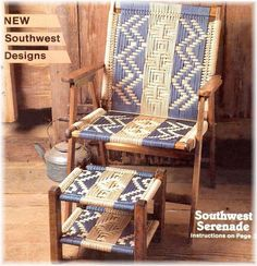 Patterns for Macrame Lawn Chairs   ... MACRAME CORDING LAWN CHAIRS 14 SOUTHWEST Designs PATTERN BOOK Chair: