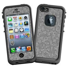 Textured Tin Metallic Honeycomb #Skin  for the #lifeproof #iphone5 and #iphone5s #Case by #Skinzy.com