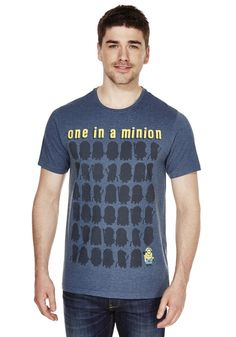 Clothing at Tesco | Universal Studios Minions One In A Minion Graphic T-Shirt > tops > Tops, T-Shirts & Hoodies > Men